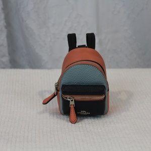 NWT Coach Colorblock Mini Backpack wristlet